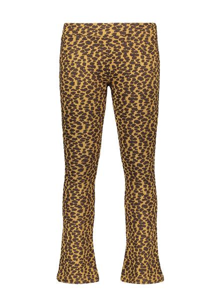 Like Flo Girls dot jacquardflare pants Color: camel