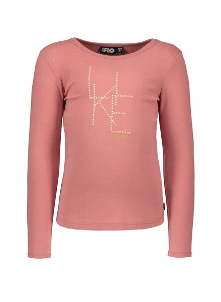 Like Flo Girls jersey ls Tee Color: old pink