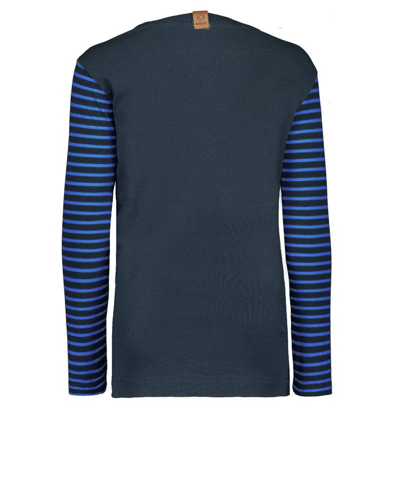 B.nosy Boys ls shirt YD stripe Color: ink blue