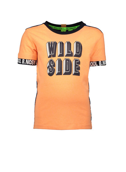 B.nosy Boys ss Shirt YD stripe Color: neon orange
