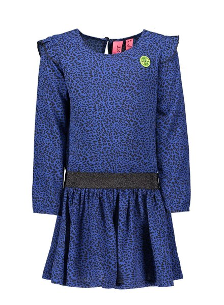 B.nosy Girls dress with ruffle at sleeve, zipper in back