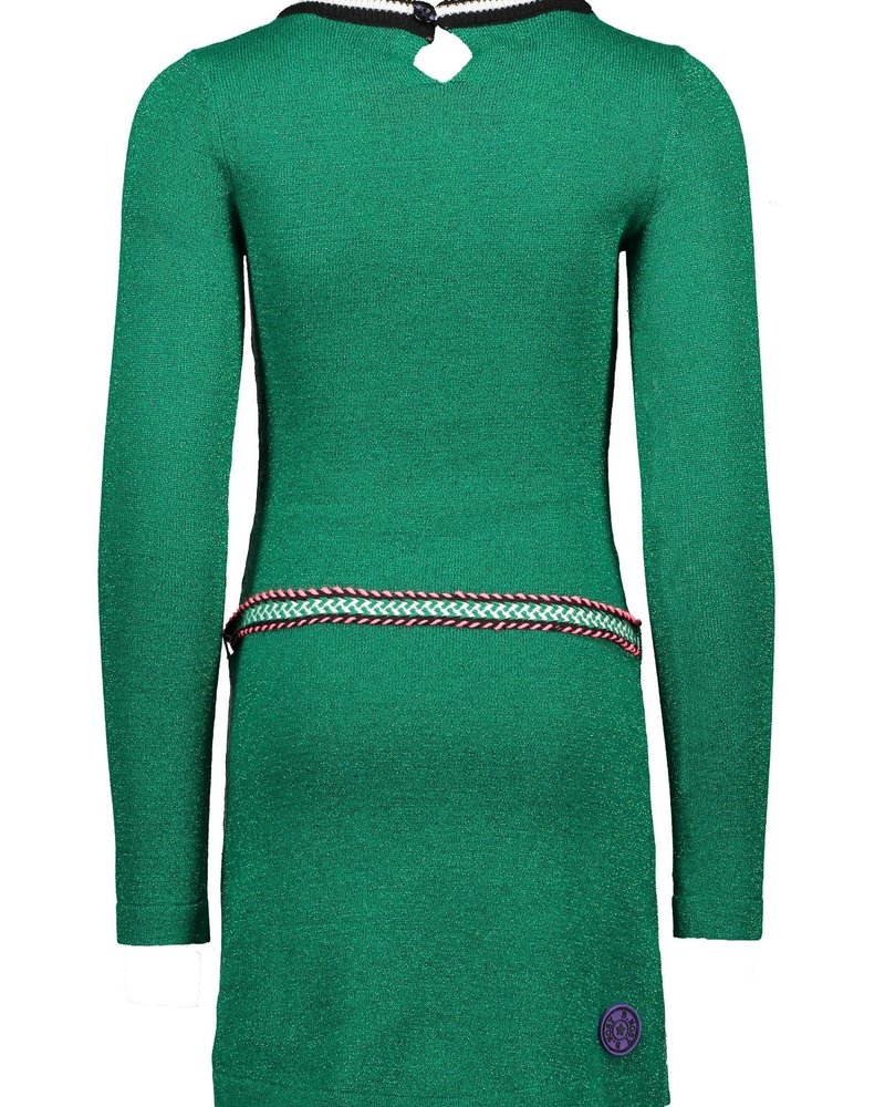 B.nosy Girls knitted dress with belt Color: emerald green