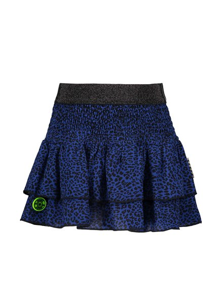 B.nosy Girls 2 layer woven skirt Color: blue panther