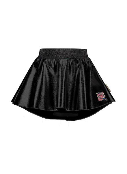 B.nosy Girls coated leather skirt with longer back, soft elastic Color: black