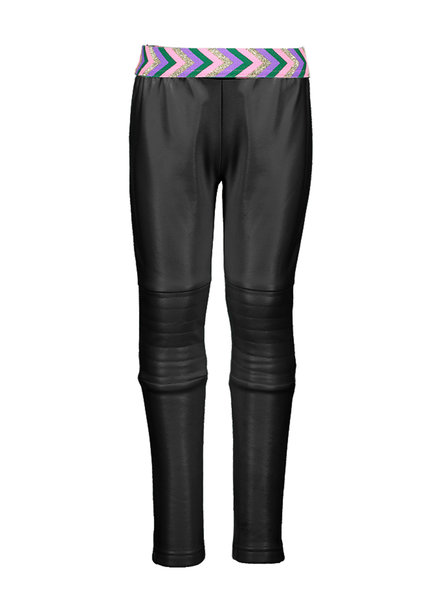 B.nosy Girls coated legging with padded knee part Color: black
