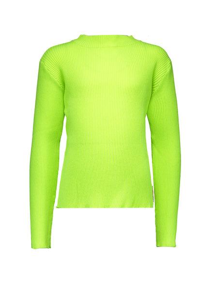 B.nosy Girls Rib Shirt with Coll Color: lime