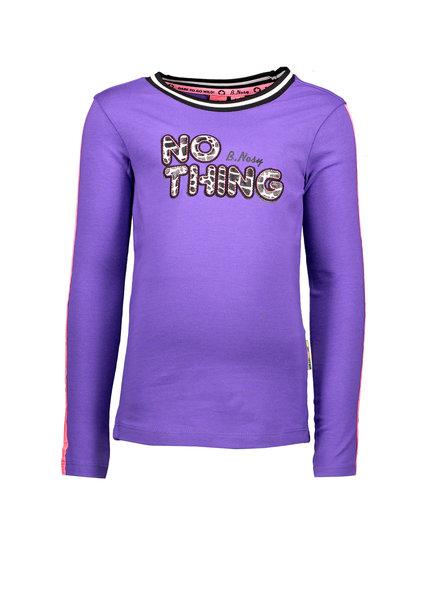 B.nosy Girls Shirt with application Color: grape purple