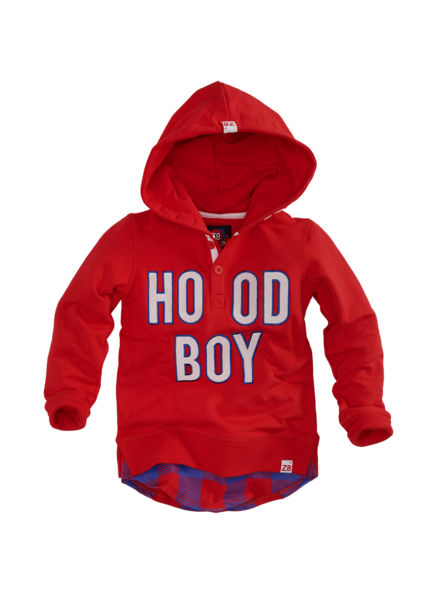Z8 Boys Hooded Sweater Rick Color: red pepper