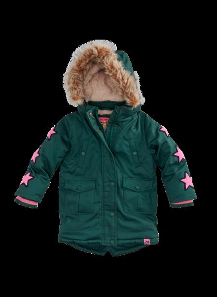 Z8 Girls Winterjacket Marijntje Color: bottle green