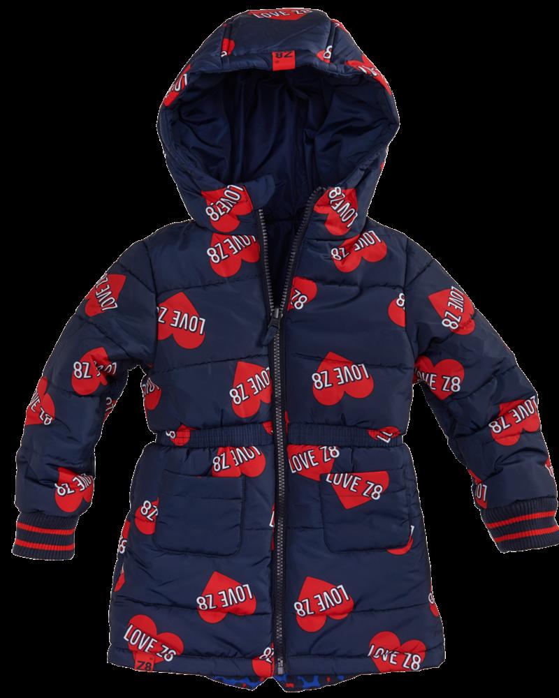 Z8 Baby Girls winterjacket Elodie reversible Color: royal blue/AOP