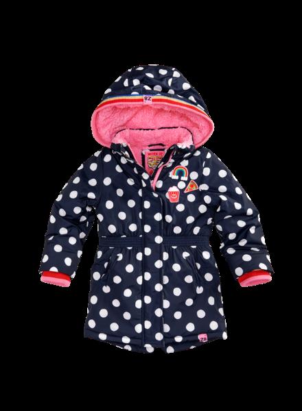 Z8 Girls Winterjacket Suze Color: royal blue/wild/dots