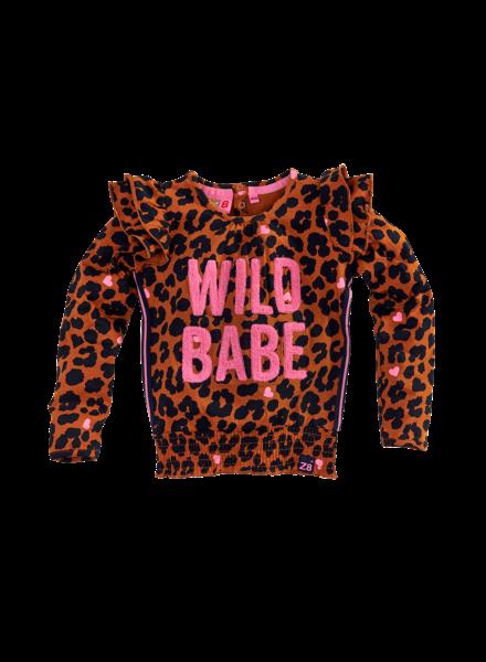 Z8 Girls Shirt ls Lizy Color: leopard AOP