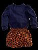 Z8 Girls Dress Jolanda Color: royal blue/leopard