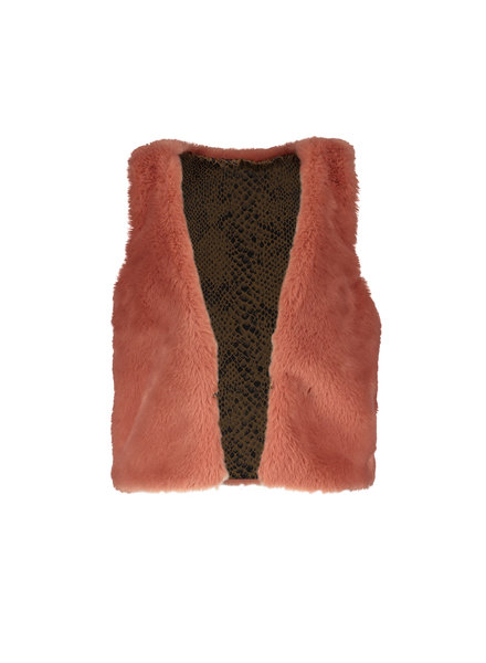 Like Flo Baby Girls teddy gilet Color: old pink