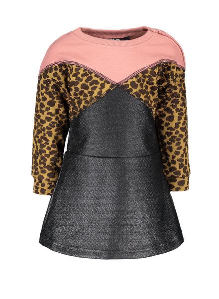 Like Flo Baby Girls jacquard snake colour block dress Color: old pink