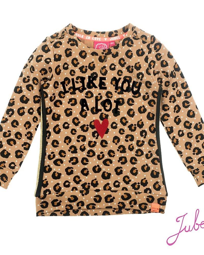 Jubel Sweater AOP - Leopard Lipstick