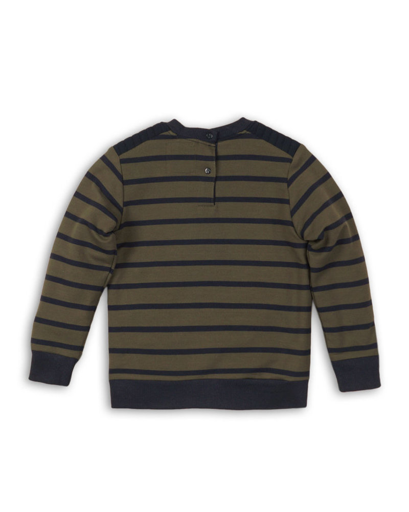 Koko Noko Jongens sweater gestreept groen