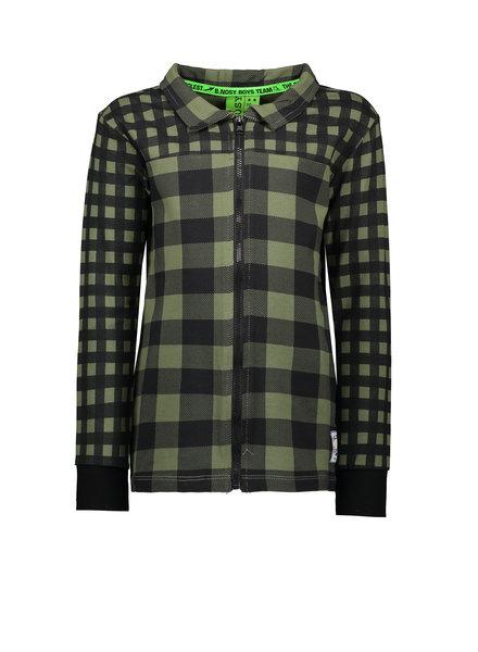 B.nosy Boys jersey aop check blouse Color: check leaf green
