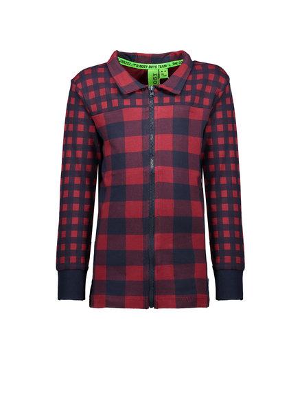 B.nosy Boys jersey aop check blouse Color: check samba
