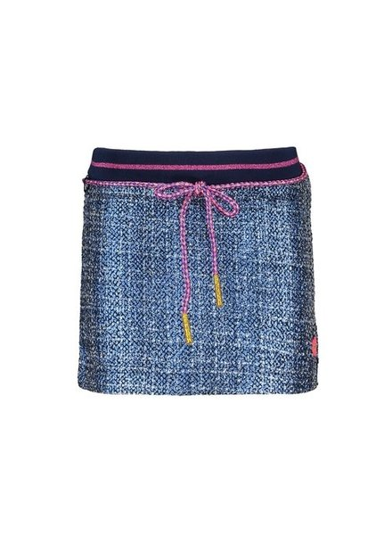 Kidz Art Girls skirt multi color coated fancy fabric with rib waist