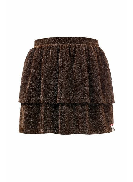 Looxs Girls glitter skirt toffee