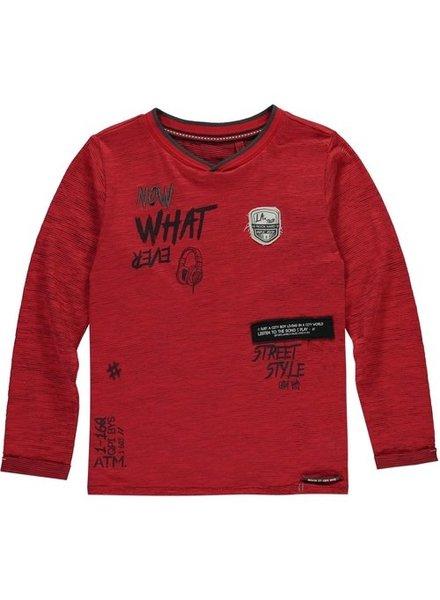 Quapi kidswear  Boys longsleeve rocky red stripe taino