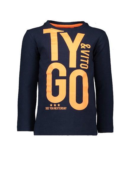 Tygo & Vito Boys T.Shirt Longsleeve Color: navy