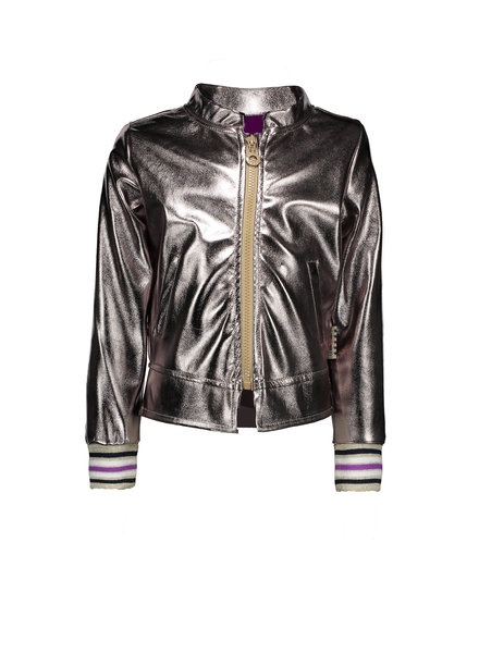 B.nosy Girls fake leather Cardigan Color: champagne
