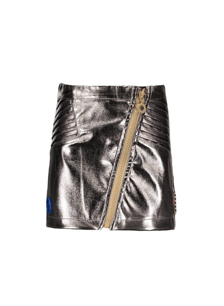 B.nosy Girls fake leather skirt with zipper Color: champagne