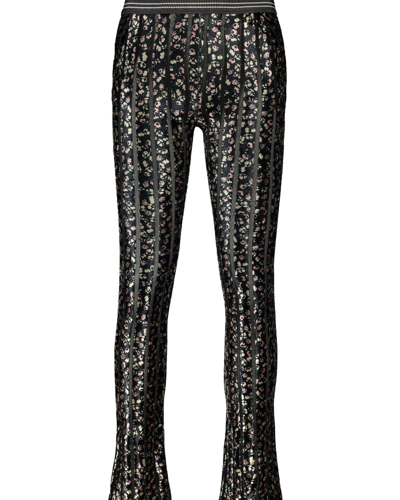 Like Flo Flo girls flower velours flare pants