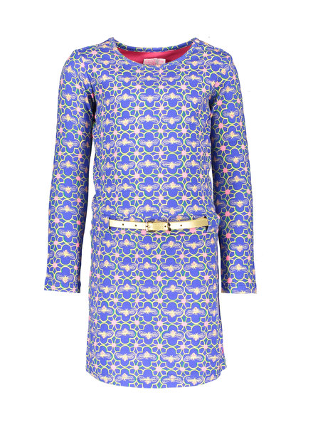 Kidz Art Girls dress l/s AO bugs + golden belt