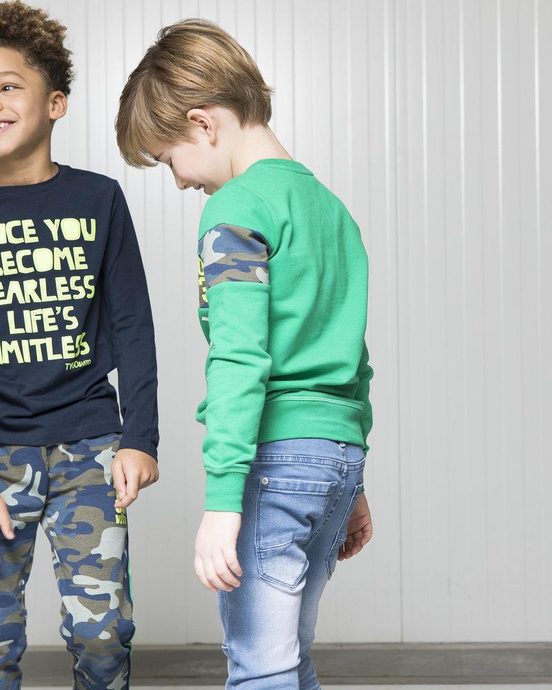 Tygo & Vito Boys Hoody Striped Color: navy