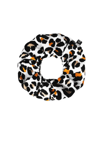 Your Wishes Leopard mango scrunchie mini