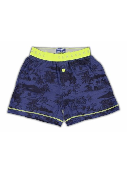 Claesens kinderkleding Boys 1-pack shorts Hawaii cobalt navy