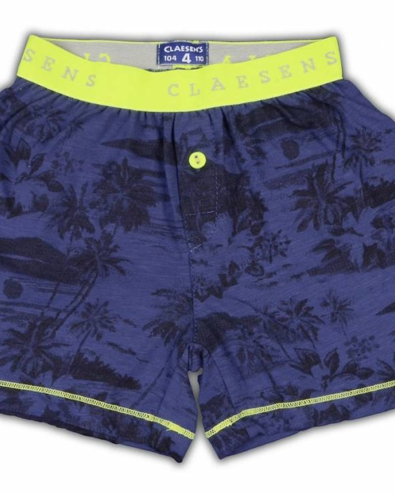 Claesens kinderkleding Boys 1-pack shorts Hawaii cobalt navy