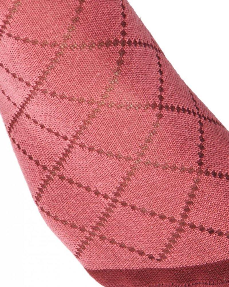 Tights dark pink argyle