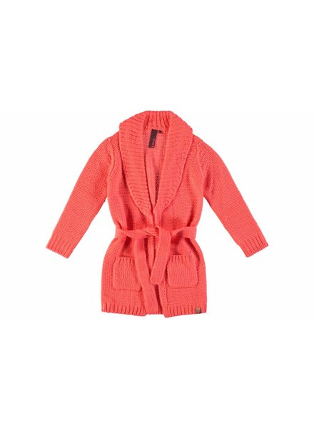 B.nosy Girls long cardigan flamingo
