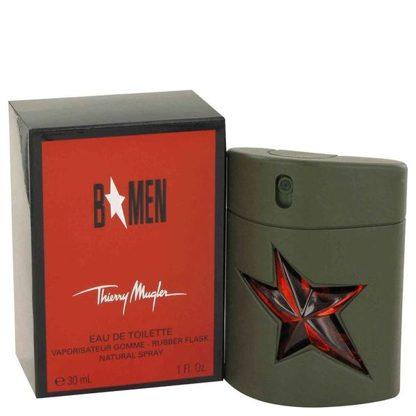 Thierry Mugler B Men Eau De Toilette Spray Rubber Flask 30 ml