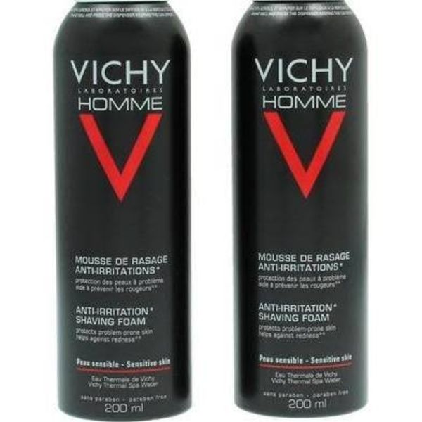Vichy Deodorant Homme Sensi Shave Anti-Irrit. Shaving Foam - 400 ml -