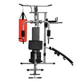 vidaXL Fitnessapparaat multifunctioneel met 1 bokszak