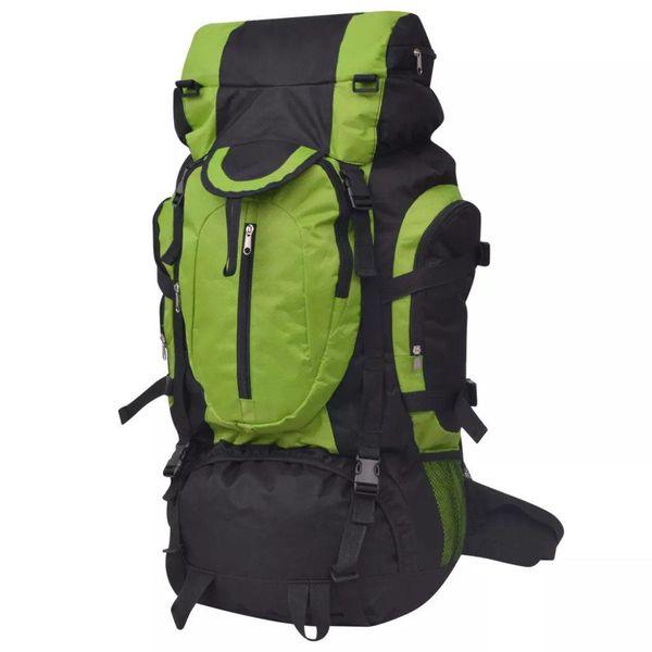 Rugzak hiking XXL 75 L zwart en groen