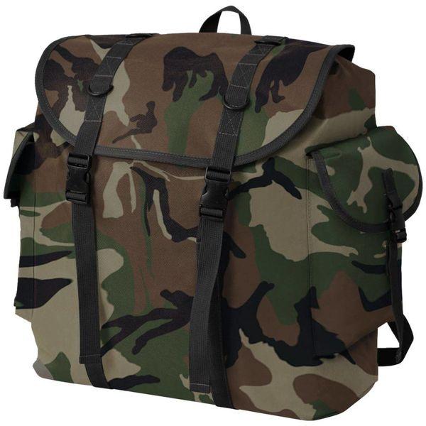 Rugzak legerstijl 40L camouflage