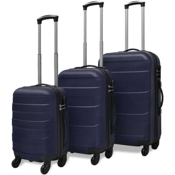 Harde kofferset 3-delig blauw