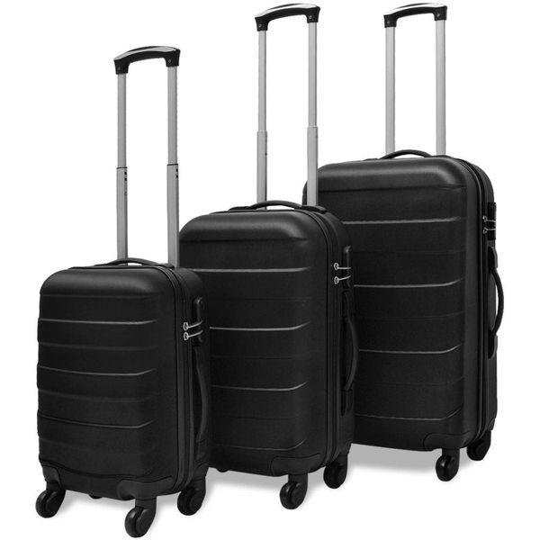 Harde kofferset 3-delig zwart