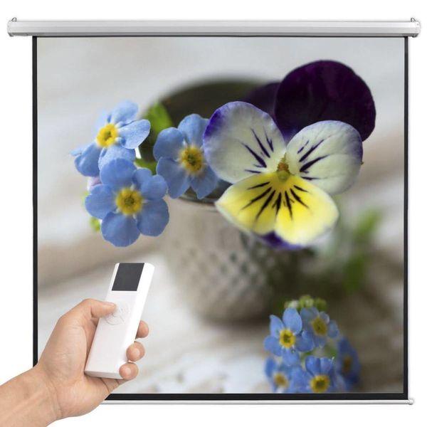 Projectiescherm met afstandsbediening elektrisch 200x200 cm 1:1
