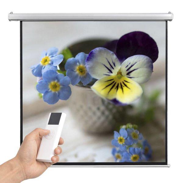Projectiescherm met afstandsbediening elektrisch 160x160 cm 1:1