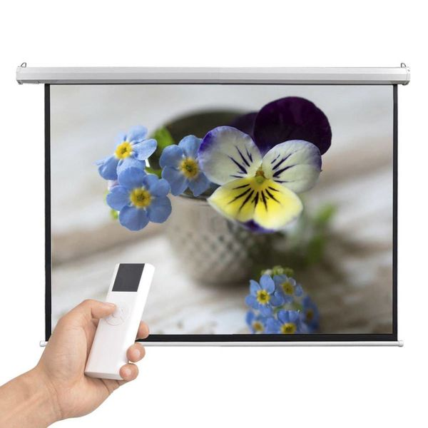 Projectiescherm met afstandsbediening elektrisch 160x123 cm 4:3