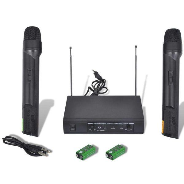 Ontvanger met 2 draadloze VHF-microfoons