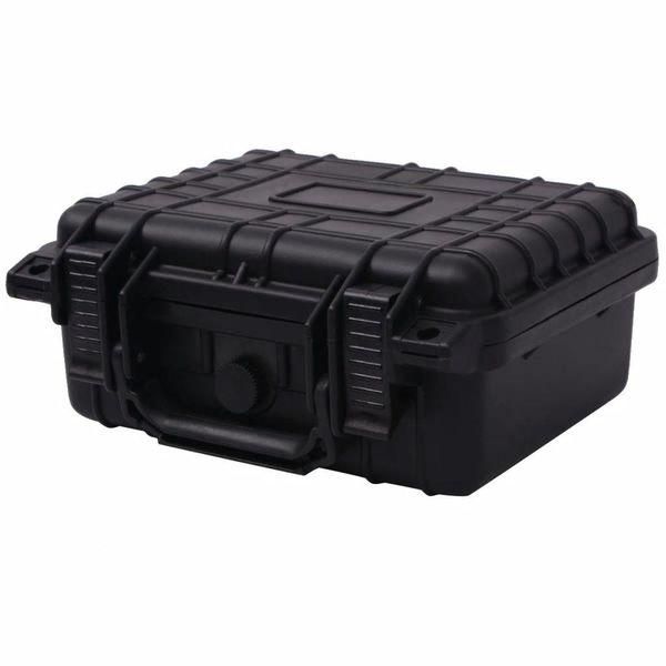 Beschermende materiaalkoffer 27x24,6x12,4 cm zwart