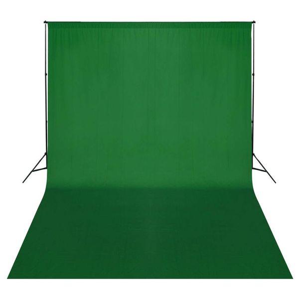 Achtergrondsysteem met green screen 500 x 300 cm.
